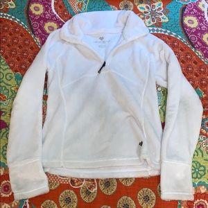 Fuzzy White Sweatshirt